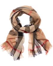 Burberry Mens  Lightweight Check Wool & Cashmere-Blend Scarf