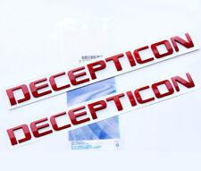 2x OEM Red DECEPTICON Nameplate Emblem Badge GMC Silverado Tahoe Ford dodge WU2