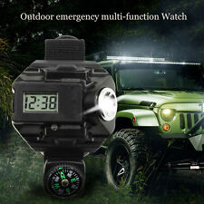 10X Rechargeable Outdoor LED Flashlight Wrist Watch Light Tactical Waterproof