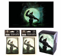 Werewolf 100ct Max Pro MTG Size Double Matte Sleeves Deck Box Playmat