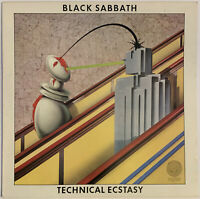 BLACK SABBATH TECHNICAL ECSTASY LP VERTIGO UK RARE 2ND PRESS NEAR MINT