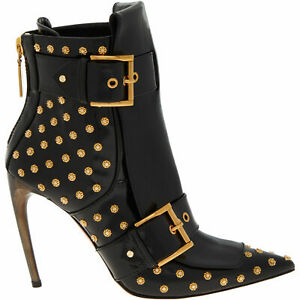 RRP£1395 New Alexander McQueen Boots, Studded, Black Ankle Boots, 39, UK6, US9