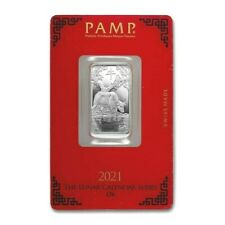 *SALE* 2021 - 10 gram Silver Bar  PAMP Suisse (Year of the Ox) SHIPS FREE