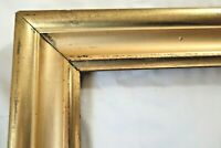 Antique Fits 12 X 16 Lemon Gold Gilt Picture Frame Wood Gesso Fine Art Country