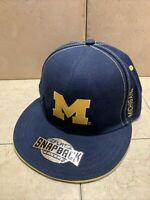 University of Michigan U M Wolverines Baseball Hat Ball Cap Snapback Flat Brim