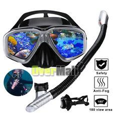 Silicone Scuba Mask Snorkel Diving Glasses Set Anti Fog Snorkeling Swimming Dive