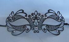 Black Filigree Metal Masquerade Mask No 16 - Express Post Available