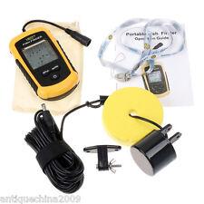 100m Portable LCD Sensor Sonar Fish Finder Fishfinder Beam Alarm Transducer Q75X