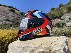 "💥SHOEI X-Fourteen""BRINK""Helmet-MED-white(x14,RF1200,GT air,14,Aria,AGV,HJC,bell"