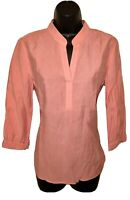 Chicos Size 0 Top Blouse Women Shirt Coral Lightweight Pullover