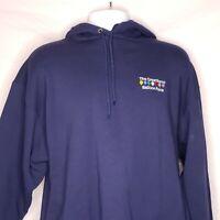 Vintage 90s Jerzees Reno Ballon Race Hoodie Hooded Sweatshirt Size Large Mens