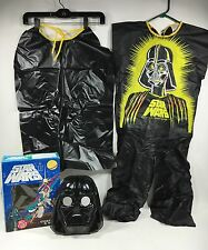 Vtg STAR WARS DARTH VADER COSTUME / MASK BEN COOPER KIDS MED 8-10 Halloween 1977