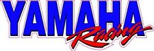 "Yamaha Racing Decal is 12"" x 4"" in size."