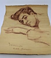 Handsome Young Man Sketch Art Signed Gay Interest