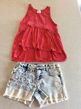 Falls Creek Tank Top & Denim Shorts Outfit Size 10 12