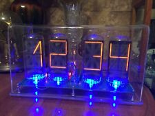 Homemade B7971 Nixie clock with wifi connection & scrolling text message b7971