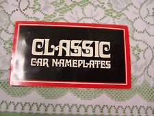 Set of 8 Classic Car Miniature Metal Nameplates Dodge Advertising Vintage