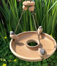 Stan Bitters Clay Pottery Bird Feeder for Hans Sumpf 1960s Mid Century Modern