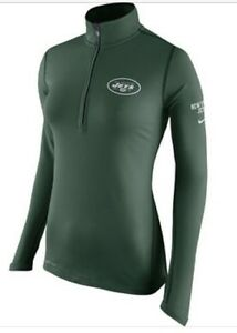 NWT Nike Women's New York Jets Green Tailgate Element Half-Zip Jacket Med- Large