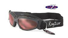 Rayzor designer Uv400 (2In1) Ski Snowboard Lunettes de soleil Lunettes Clair Rose RRP £ 69