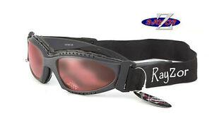 RayZor Designer Uv400 (2In1) Ski Snowboard Sunglasses Goggles Clear Rose RRP£69