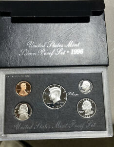 1996 United States Mint Silver Proof Set COA & Box