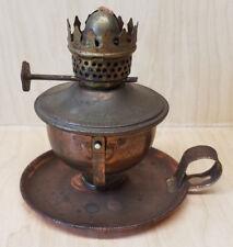 Vintage Small Metal Swivel Swinging Oil Lamp (no glass chimney)