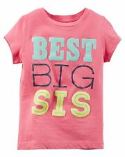Girls 4 4t Gray Big Sister Shirt L/s Sparkly Carter's Fall