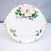 Allyn Nelson Collection Porcelana Fina Inglaterra 6515 Magnolia Plato de Tarta