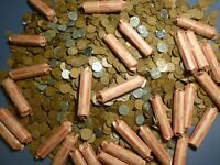 Unsearched Rolls of Wheat Pennies From Estate Sale Lot 1909-1958