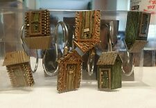 Blonder Home Lodge Outhouse Village Shower Curtain Hooks ( set of 12 )