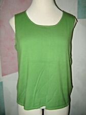 DRESSBARN Frog Green Sleeveless Soft Stretch Knit Pullover Sweater Vest 18 / 20