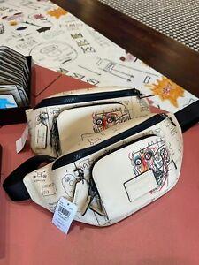 Coach X Jean Michel Basquiat Pebble Leather Track Crossbody Belt Bag C5423
