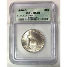 1986 D Statue of Liberty Half Dollar ICG MS70  ***Rev Tye's Stache*** #013147