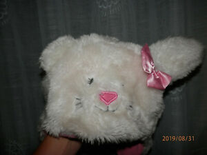 girls bunny hat faux fur with ears UNIVERSAL SIZE use for warmth or as costume