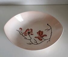 Vintage Carlton Ware 'Magnolia' Design Salad Bowl No. 2595 in Peach