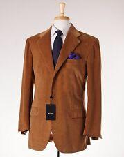 NWT $6495 KITON Dark Camel Tan Cotton-Cashmere Corduroy Suit Slim 48 R (Eu 58)