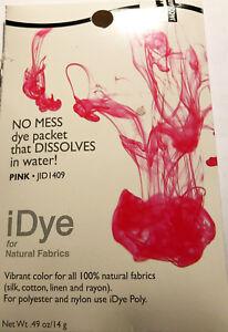 IDye - Farbe 409  Pink  -  zum Färben aller natürlichen Stoffe