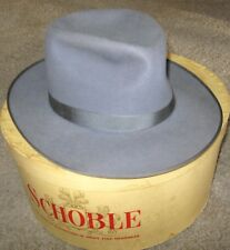 Vintage Stetson Royal Stetson Men's Gray Fedora Felt Hat Sz 7-1/4