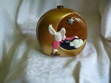 TIMMY WOODS Beverly Hills LADY WHITE RABBIT on Moon Purse Signed Numbered 39/56