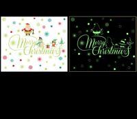 Weihnachten Wandtattoo Merry Christmas Winter Wandsticker Wandbild Aufkleber