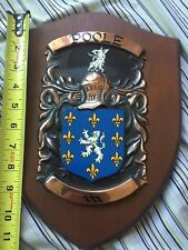 Poole Coat of Arms wall Plaque Decor sign