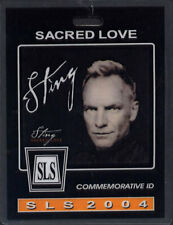 Sting *Rare* Sacred Love Tour 2004 Backstage Laminate Pass (Police) Id Badge