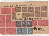 Germany 1923 Inflation Official Stamps Cover ref 22925