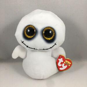 NEW 2021 Ty Beanie Boos SPIKE Halloween Ghost (6 Inch) Plush Stuffed Toy MWMTS