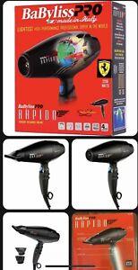 Babyliss Pro Ferrari Rapido Hair Dryer 2000watt Plus Travel Pouch BRAND NEW!!