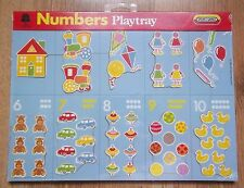 NUMBERS  PLAY TRAY by SPEARS GAMES SEALED NEW OLD STOCK 1988  MADE IN ENGLAND