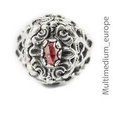Silber Ring Granat silver ring garnet Tracht en Historismus Stil 🌺🌺🌺🌺🌺
