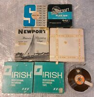 Vintage 1960's Reel to Reel Magnetic Audio Recording Tape Lot of 7 Pre-recorded.