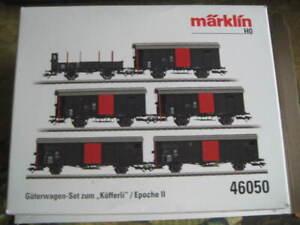 """2020 Marklin H0 46050 SBB CFF """"Toy Fair"""" 6 Freight Car Set for """"Köfferli"""" - NIB"""